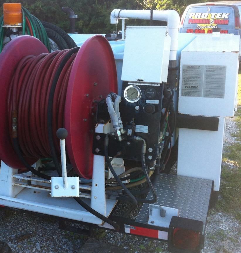 hydrojet plumbing machine