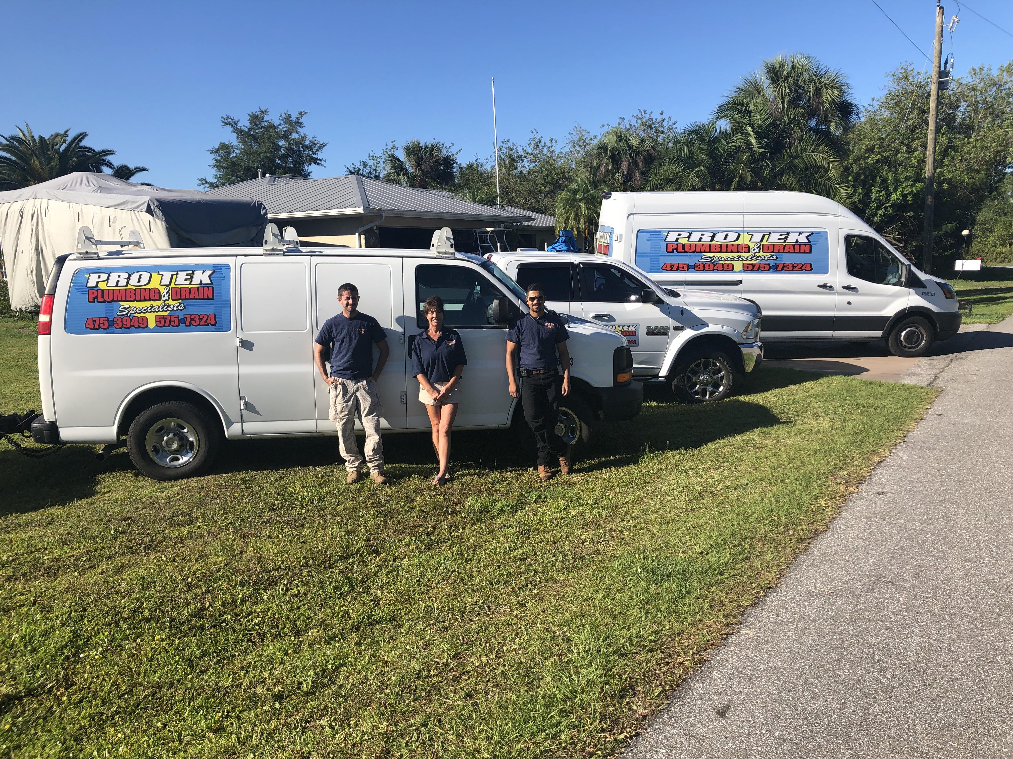protek plumbing team