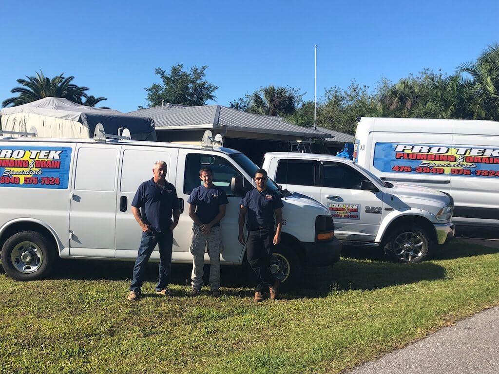 protek plumbing service team